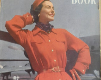 Vogue Knitting Book No 37 1950 Vintage Knitting Patterns Jacket skirt dress blouse sweater patterns