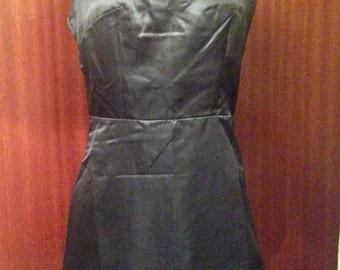 Little Black Dress perforated skater dress