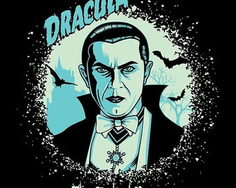 Dracula, Béla Lugosi, poster, Digital Print, Instant Download, Printable Illustration, 11x14 inches, Monster, Vampire, Universal Monsters