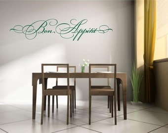 Bon Appetit Vinyl Wall Decal Decor