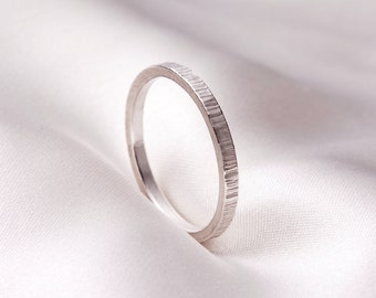 Handmade hammered ring, Sterling silver ring, Sterling Silver Stackable Ring, hammered stackable ring, textured Sterling Silver ring