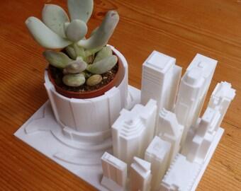 3D Printed Urban City Desk Planter