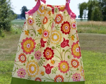 Pillowcase dress//sun dress//swimsuit coverup//