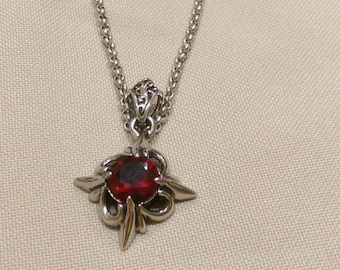 Inlaid ruby necklace 990005