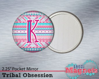 Magnet • Pocket Mirror • Bottle Opener • Button ~ Tribal Pattern ~ Personalized ~ Gift ~ Stocking Stuffer