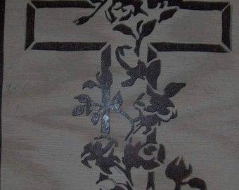 Rose Covered Cross Portrait
