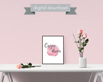 Carpe Diem Print - 8x10 Print - Carpe Diem - Motivational Print