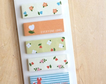 Sticky Notes - 6 design x 20, total 120 sheets - fox, flower