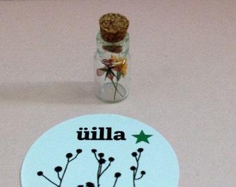 "Mini vial ""alpha"" miniature uilla nature design"
