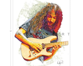 Guthrie Govan, Erotic Cakes, The Aristocrats,  11x14 in, 29x36 cm, Signed Art Print w/ COA