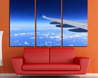 Aircraft Wing Wall Art Multi Panels Set Plane Wall Art  Wing Wall Art Boeing Print Poster Aircraft Wall Canvas MultiPanel