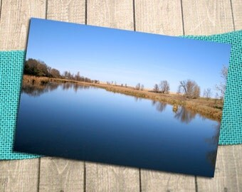 "Prairie Lake Fine Art Photography Postcard, Southwest Minnesota, Nature, Outdoors, Postcrossing, Fall, Autumn - 5.75"" x 4.125"""