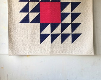 Fly Away, a PDF modern quilt pattern in two sizes, by Heather Jones