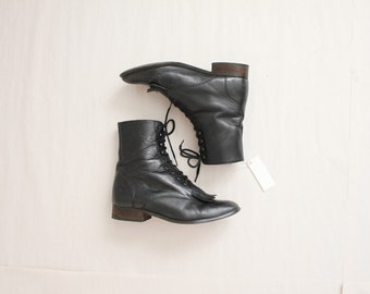 black leather roper boots | size 7.5 boots