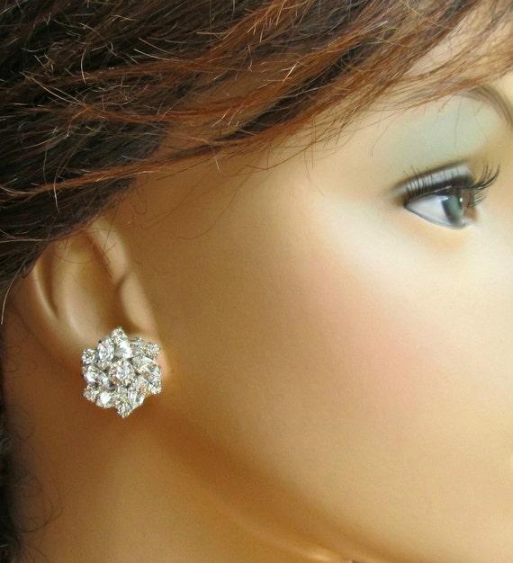 Wedding Earrings, Bridesmaids Earrings, post Earrings, Stud Earrings, bridesmaids Jewelry, Bridesmaids Gift, Crystal Earrings