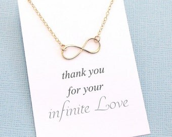 Infinity Necklace | Mothers Necklace | Gift for Mom | Mother's Day Gift | Forever | Infinity Charm | Silver, Rose Gold, Gold | M06