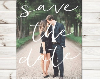 Printable Photo Save the date cards, save the dates, digital download pdf