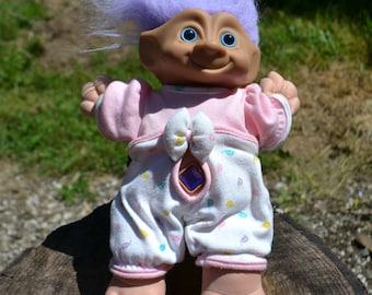 "12"" Plush Purple Treasure Troll Doll"