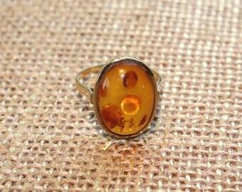 English 9k Geniune Amber Ring