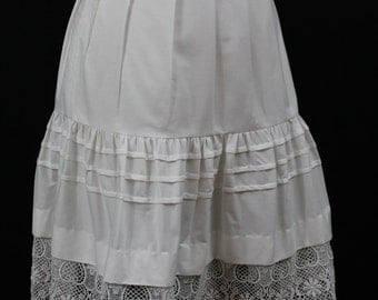 Cotton and Lace Skirt