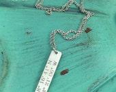 Personalized Latitude Longitude Necklace, Custom, Latitude, Longitude, GPS Jewelry, Latitude Jewelry, Latitude Longitude Jewelry, Necklace