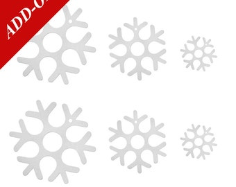 Wool Felt Snowflake Ornaments - 6 Ornament Pack, All Three Sizes Included, Add-On Item, Christmas Ornaments, Winter Decoration