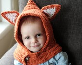 Orange Fox Cowl 6-18 months