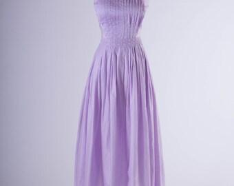 50's Lavender Cotton Dress