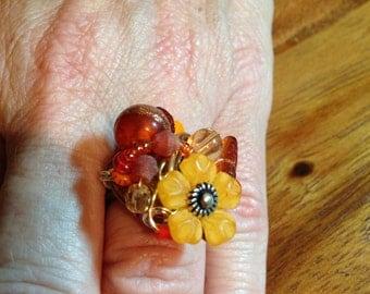 Happy Little Flower Ring size 7