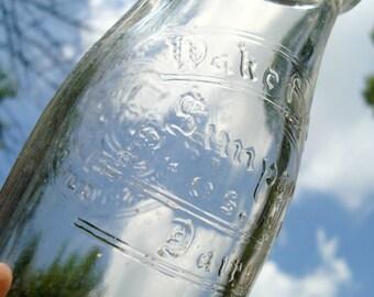 Wakefield Simpson Dairy Half Pint Milk Bottle Washington DC