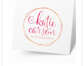 Premade Watercolor or Gold Logo and Watermark