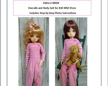 Pattern MSD8 Overalls and Bodysuit fit to Kaye Wiggs 45cm