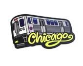 Chicago L Train Sticker, Chicago Bumper Sticker, Chicago Window Decal, Chicago City Pride, Elevated Train Sticker Chicago, City El Train