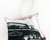 Wrigley Field Chicago Cubs Fabric Ornament