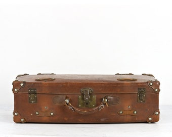 Vintage Leather Suitcase, Leather Suitcase, Vintage Suitcase, Vintage Luggage, Brown Suitcase, Old Luggage, Old Suitcase
