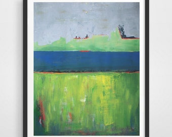 """Original Acrylic Painting - abstract landscape painting - large abstract painting 22""""x28"""" - large Art on paper"""