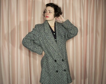 Ferncroft Herringbone Tweed Coat, 70's