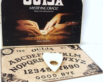 Vintage Board Game, Ouija Board, Party Game, Mystifying Oracle Ouija Planchette , Original Box