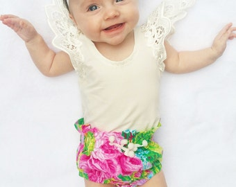 Baby Floral Summer High waist Baby Bloomers