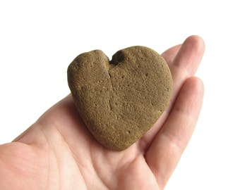 Heart Shaped Stone - Natural River Rock - Valentines Day Gift