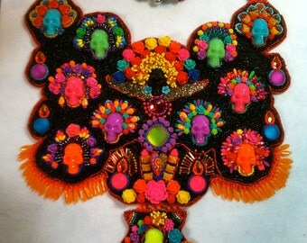 "In Living Color, beaded ""bib."" my 2016 Battle of the Beadsmith entry"