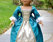 CUSTOM ORDER for momscoco - Doll Dress Ball Gown Colonial for American Girl French Court