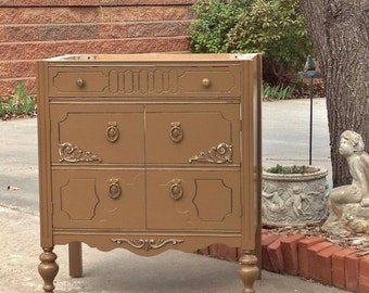 """BATH VANITY CABINET From Antique Dresser Custom To Order Converted For Bathroom 28"""" to 48"""" Wide"""