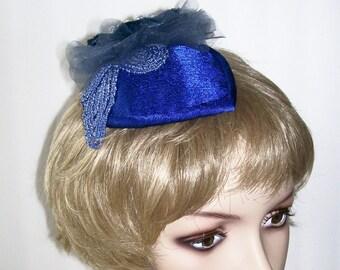 Royal Blue Fascinator Hat