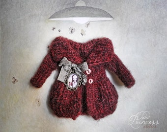 Blythe Ooak Jacket MY DARLING FRIEND Vintage Romantic Collection By Odd Princess Atelier, Shabby Chic, Hand Knitted, Special Outfit