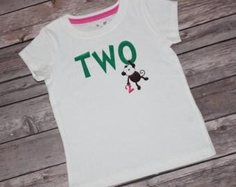 Two Monkey Shirt, Two Cute Shirt, 2nd Birthday Shirt, One, Smash Cake, 1st Birthday, Two Cool, Animal Shirt, Zoo Birthday, Monkey Shirt, 2