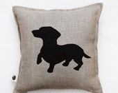 Dog pillow - decorative pillows case - dachshund pillow-cushion case-accent pillow-sofa pillow-gift for dog lovers-home decor 0347