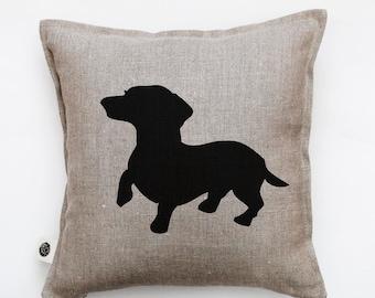 Dog pillow - decorative pillows case - dachshund pillow-cushion case-accent pillow-sofa pillow-gift for dog lovers-home decor 0347