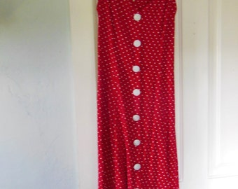 90s does the 50s Red Polkadot Dress