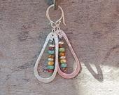 Bohemian Earrings, Seed Bead Earrings, Long Sterling Silver Earrings, Boho Jewelry, Colorful Earrings, Silver Dangle Earrings, Big Earring
